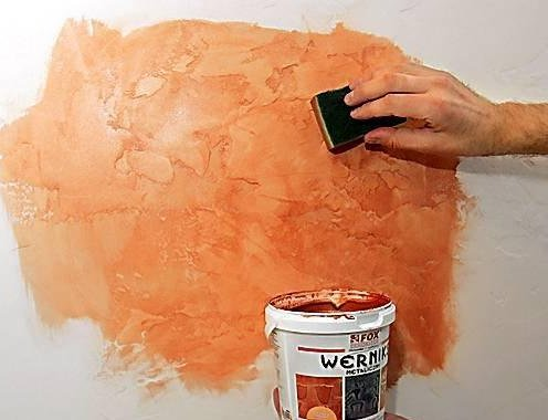Покраска декоративной